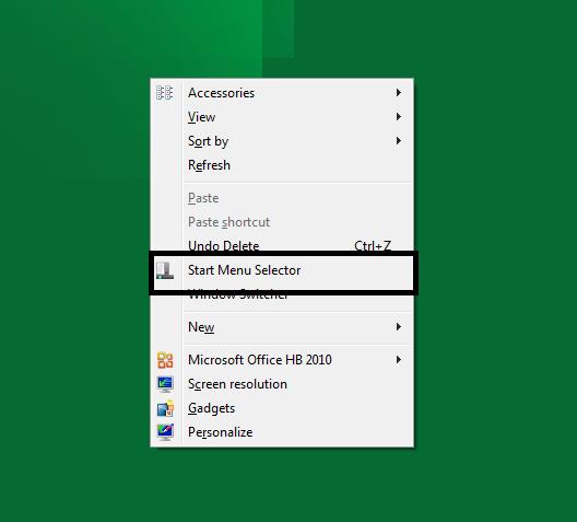 Start Menu Selector windows 8