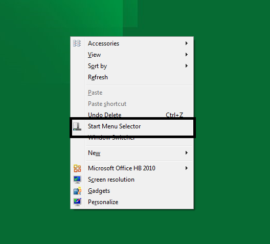 start menu selector windows 8 by mbossg d4a8i99 - 5 Ways To Tweak Windows 8 Start Menu with Metro UI (Developer Preview Edition)