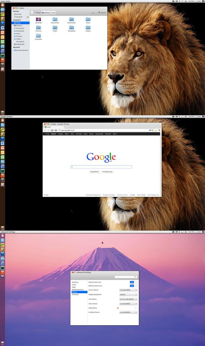 Установка темы, значков и курсоров macbuntu в ubuntu 16