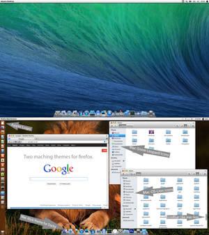 Mac-OS-X V5 theme pack for Ubuntu 13.10