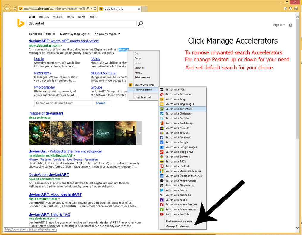Search Provider For internet explorer context menu by MBOSSG on