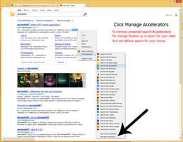 Search Provider For internet explorer context menu