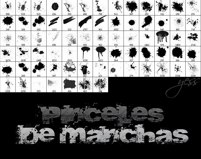 Pinceles de Manchas by CraziiAlien