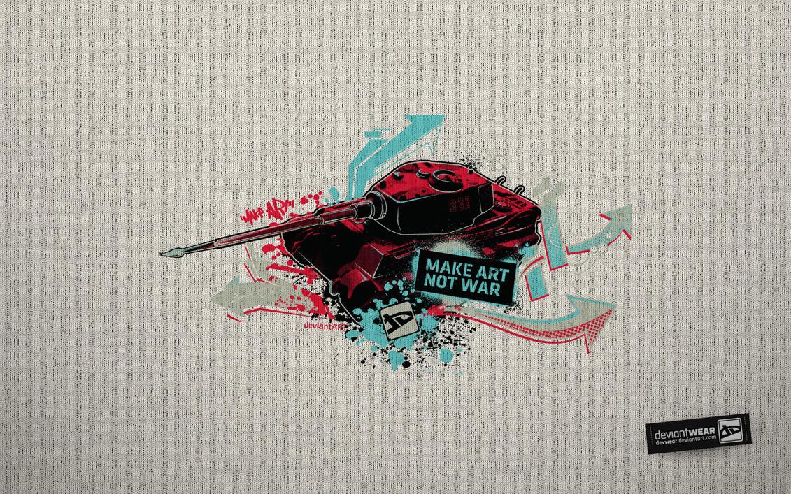 Make Art Not War_Wallpaper by deviantARTGear