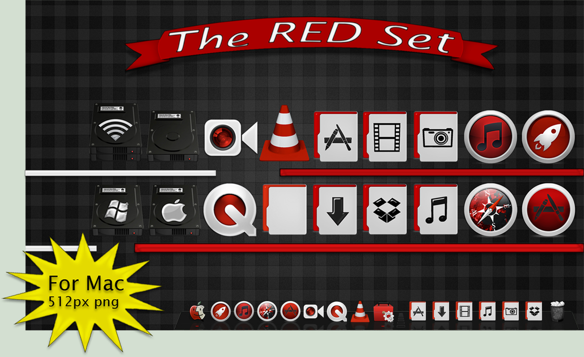 Red Icon Pack for Mac by ThEPaiN321 on DeviantArt
