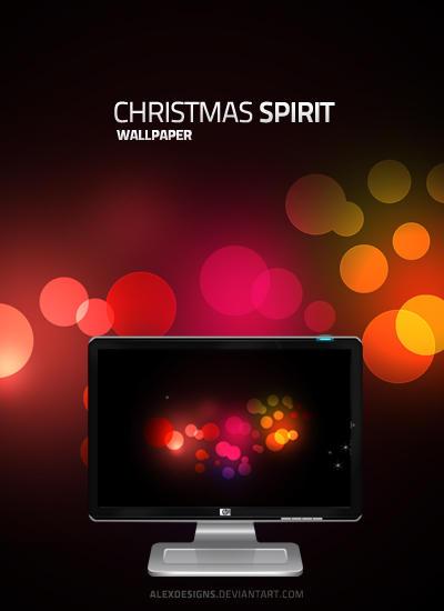 Christmas Spirit Wallpaper by alexdesigns