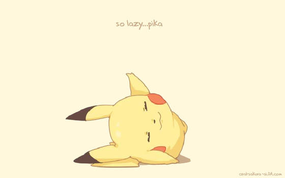 ANIMATED - so lazy...pika