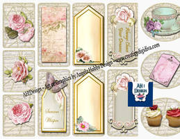 Tea N Roses Journal Pages n Tags Kit