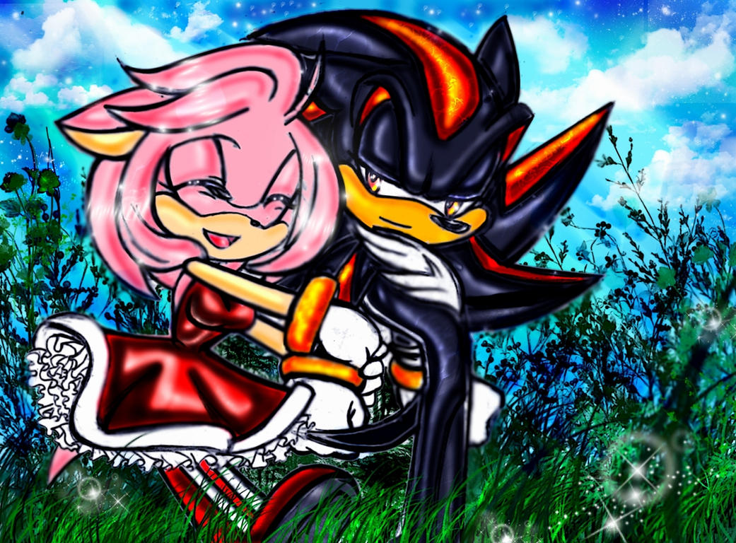 Shadow X Amy: I'll Protect You by AnyoneWantTacos on DeviantArt