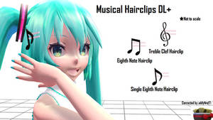 [MMD] Musical Hairclips DL+