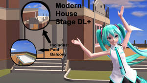 [MMD] Modern House Stage DL+ by Haztract