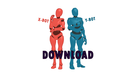 [MMD Re-Do] X-Bot and Y-Bot DL+
