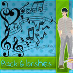 Brushes Notas Musicales