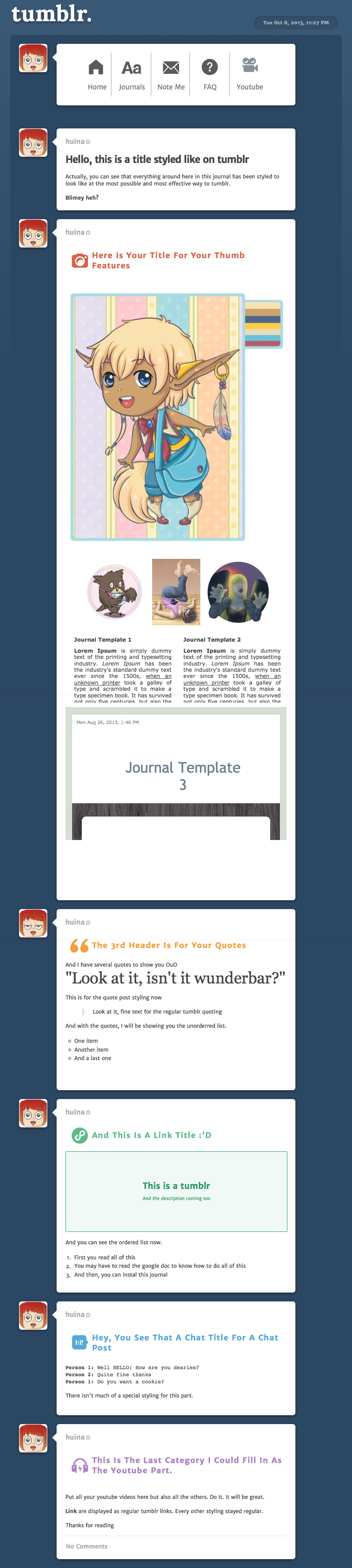 Tumblr Journal Skin by huina