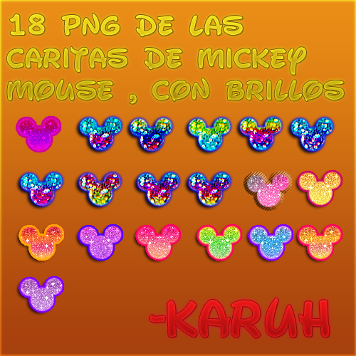 Pack PNG De caritas de mickey mouse con brillo by ~Karuhchitta on ...