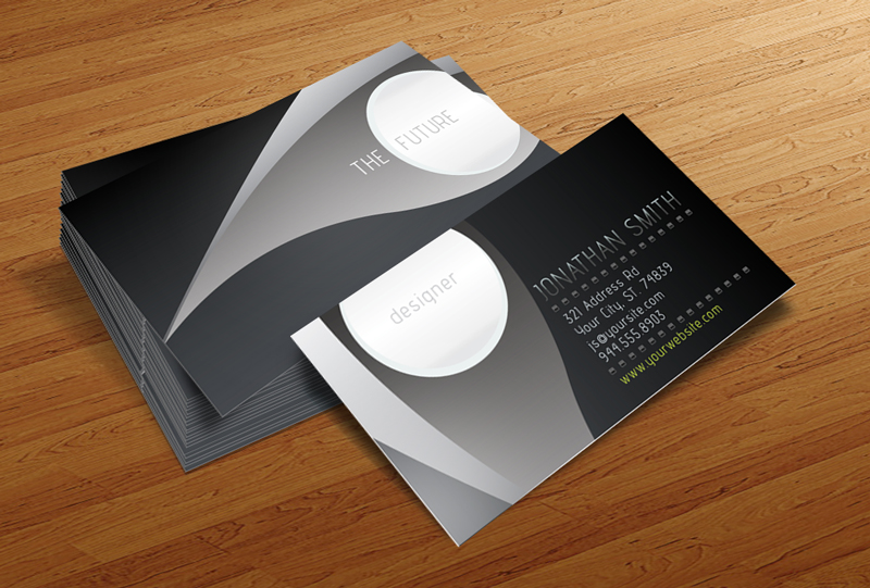 Free Business Card PSD V By CursiveQDesigns On DeviantArt - Business card templates for photoshop