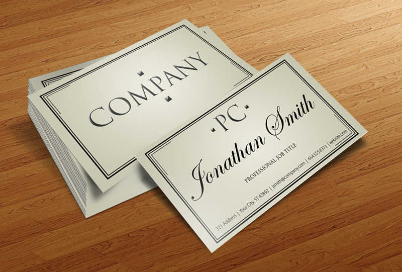 Free Business Card PSD v4 by CursiveQ-Designs
