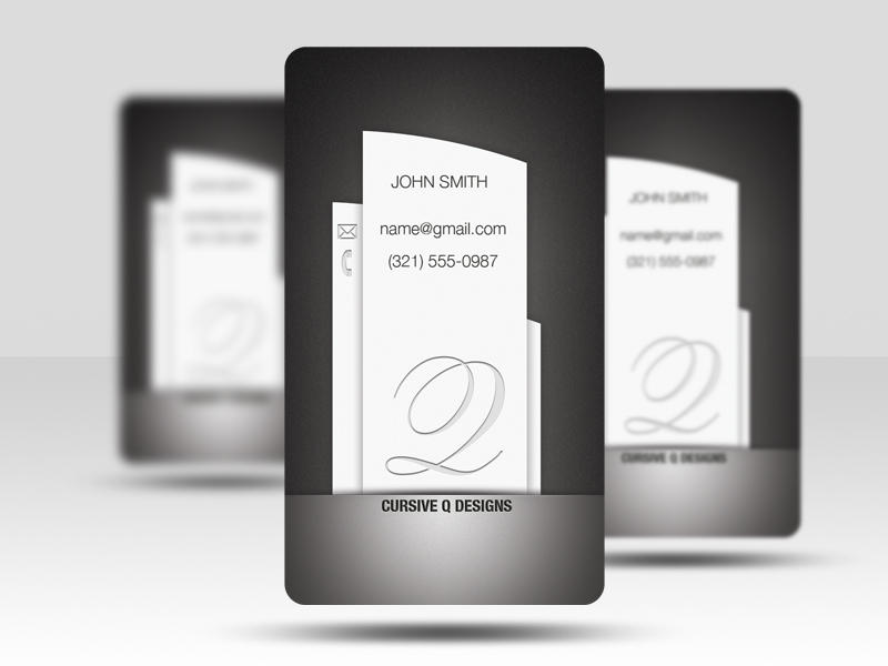 Free Business Card PSD v5 by CursiveQ-Designs