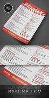 Free Resume / CV PSD Template