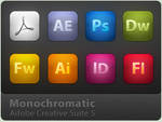 Adobe CS5 MonoChromatic Icons