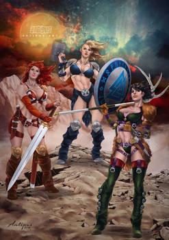 Warriors Women art by Antipus