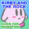 Kirby and the rock