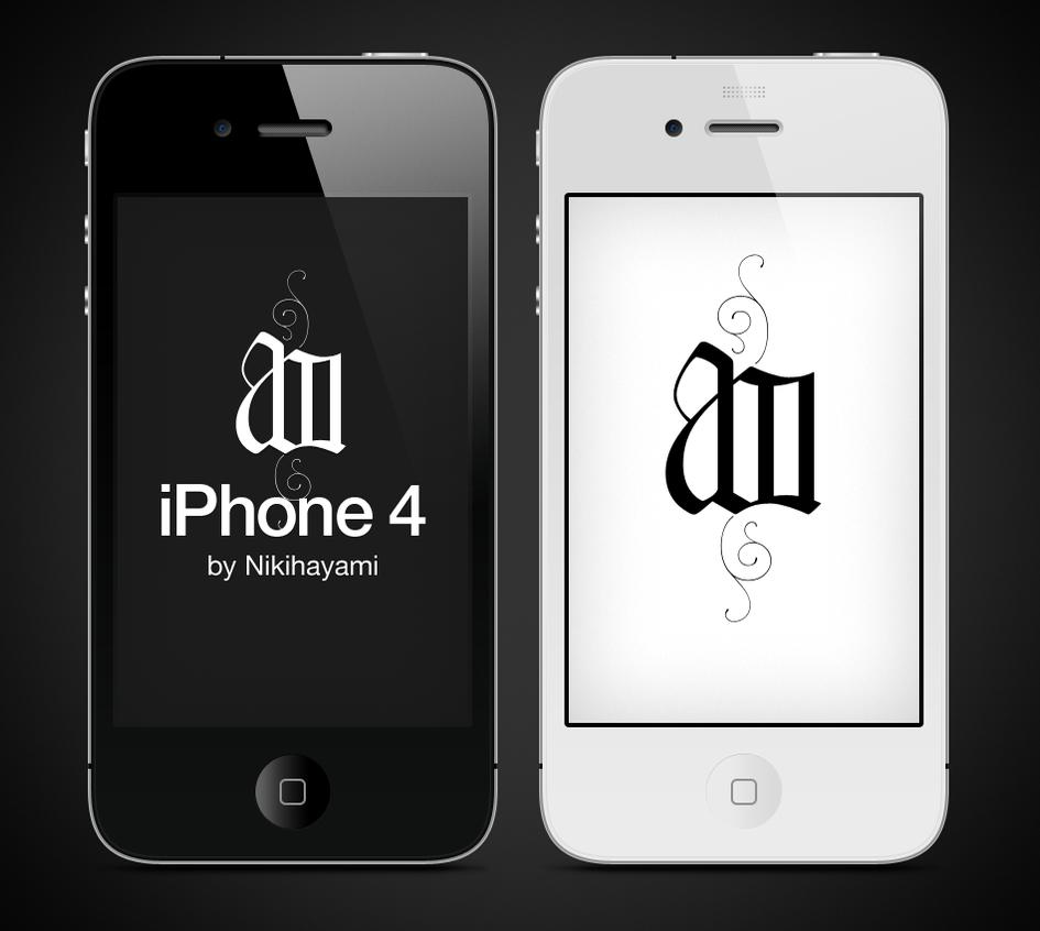 iPhone 4 vector psd by Nikihayami