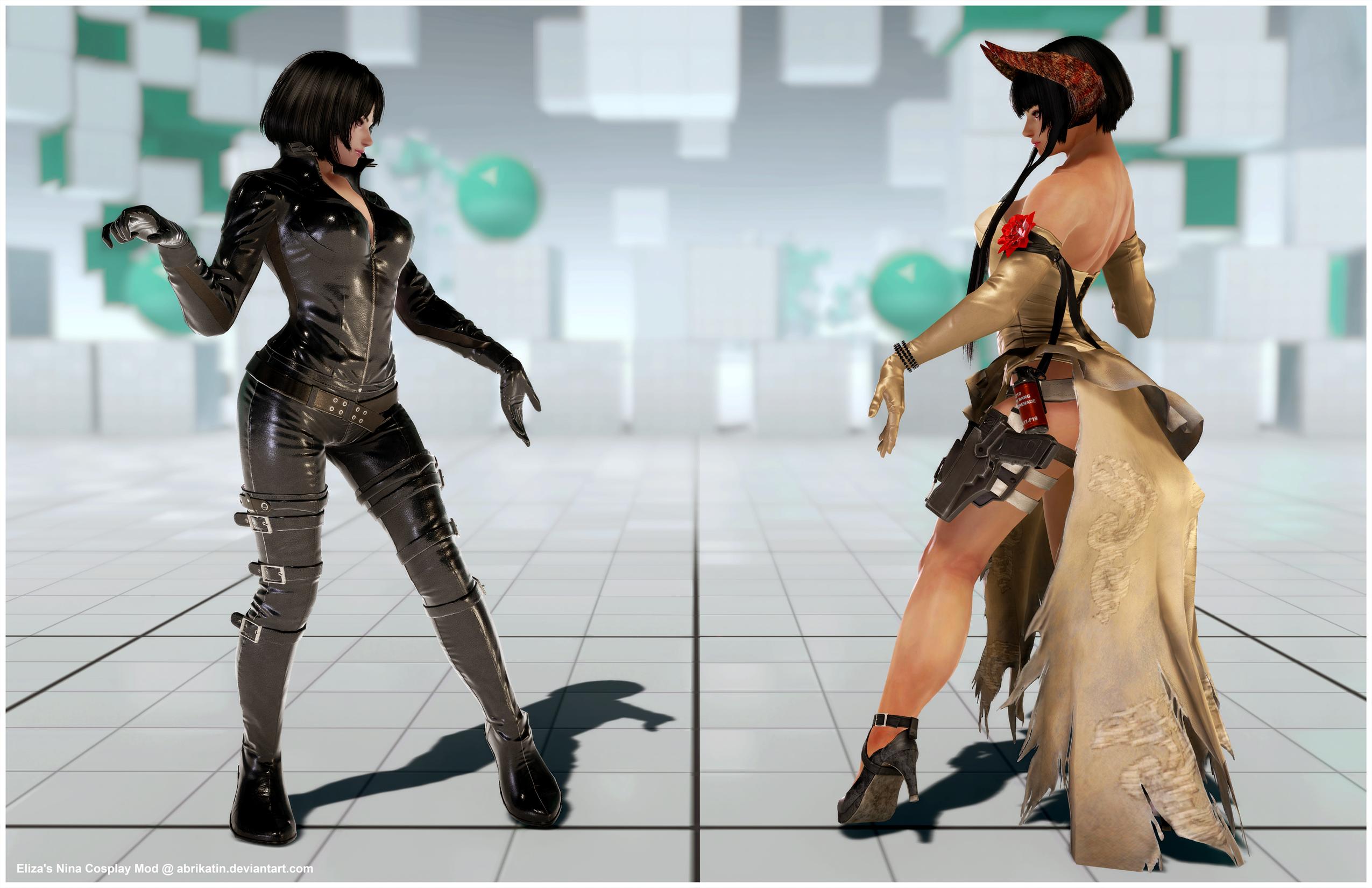 Eliza's Nina Cosplay [Tekken 7 PC mod] by Abrikatin