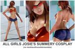 All Girls Josie Summery Cosplay [Tekken 7 PC mod]