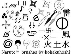 Naruto Photoshop 7 brushes 2 by kohakuhoshi