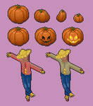 Scarecrow in a Pumpkin Patch - Free use