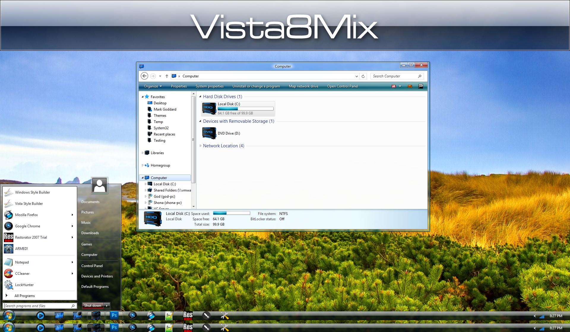 Vista 8 Modern Mix