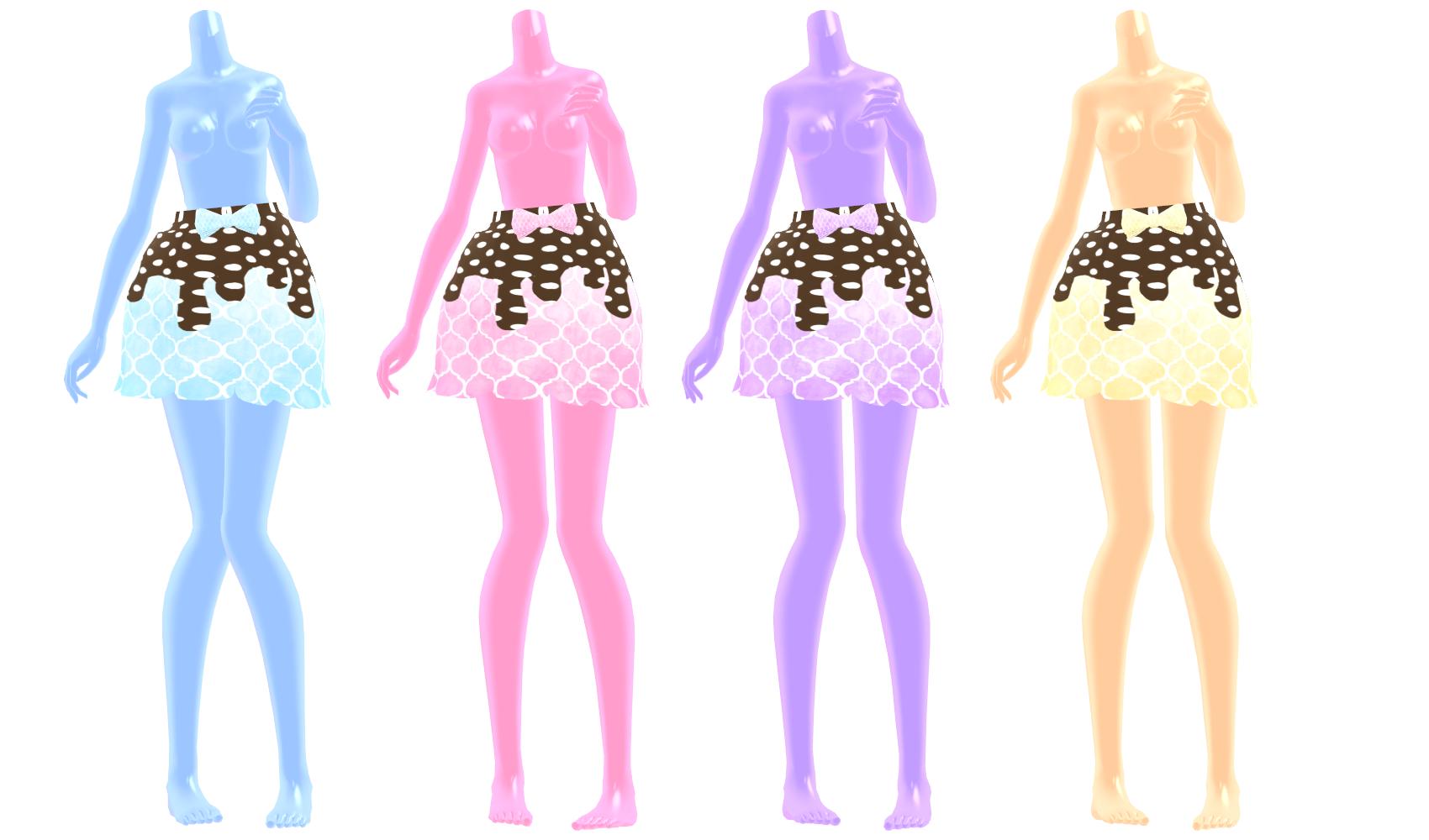 MMD] Choco Drip Skirt DOWNLOAD by MijumaruNr1 on DeviantArt
