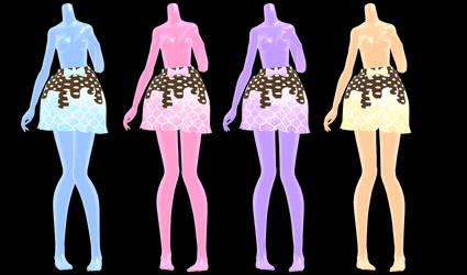 [MMD] Choco Drip Skirt DOWNLOAD
