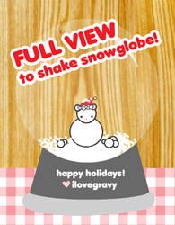 christmas snowglobe by ilovegravy