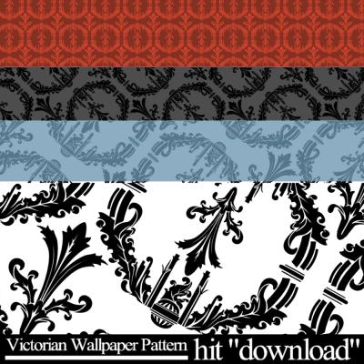 Victorian Wallpaper Pattern by hishy