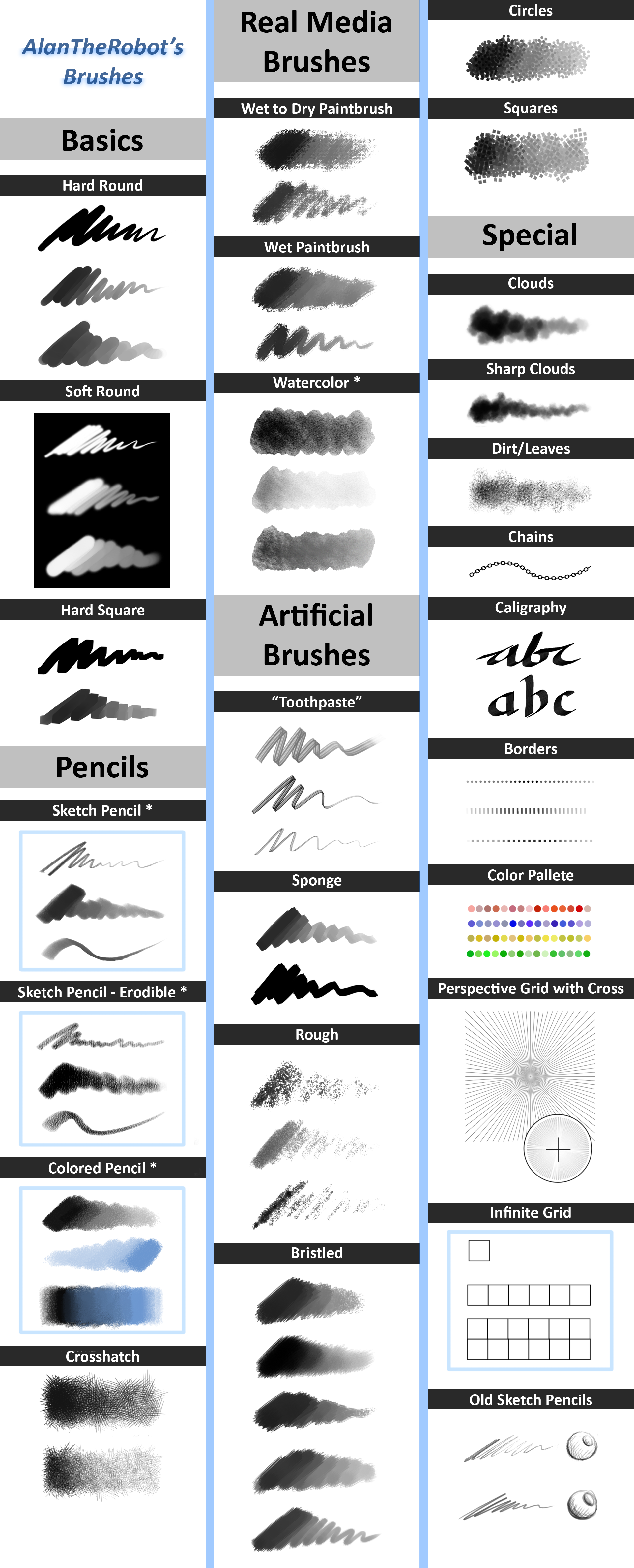 AlanTheRobot's Brushes (ALL Versions - Tested) by AlanTheRobot