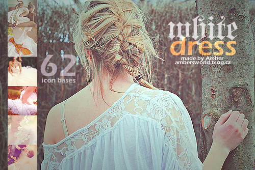 White dresses icon bases by amber-necklace