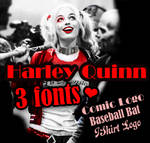 Harley Quinn Pac w/ 3 Fonts// by Brunorgastic