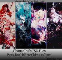 Ohoho 1st PSD pack by OhanaChii