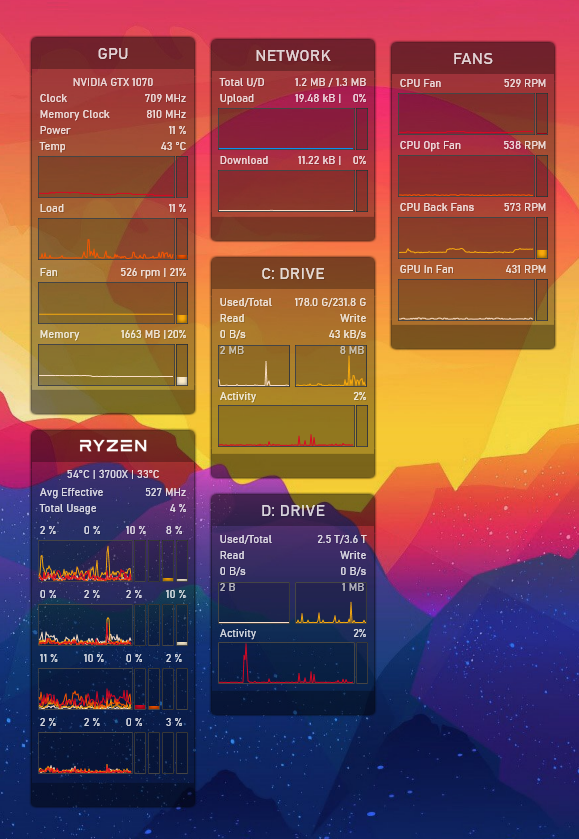 Rainmeter: Ahmed-90's SystemInformation reloaded