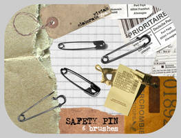 SAFETY PIN brushes by elaborate-dream