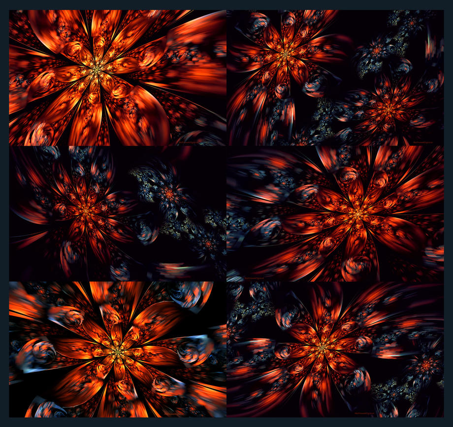 Flash Flower Fractal Wallpaper Set by Sya