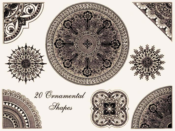 Ornamental Shapes - Brush Pack by Sya