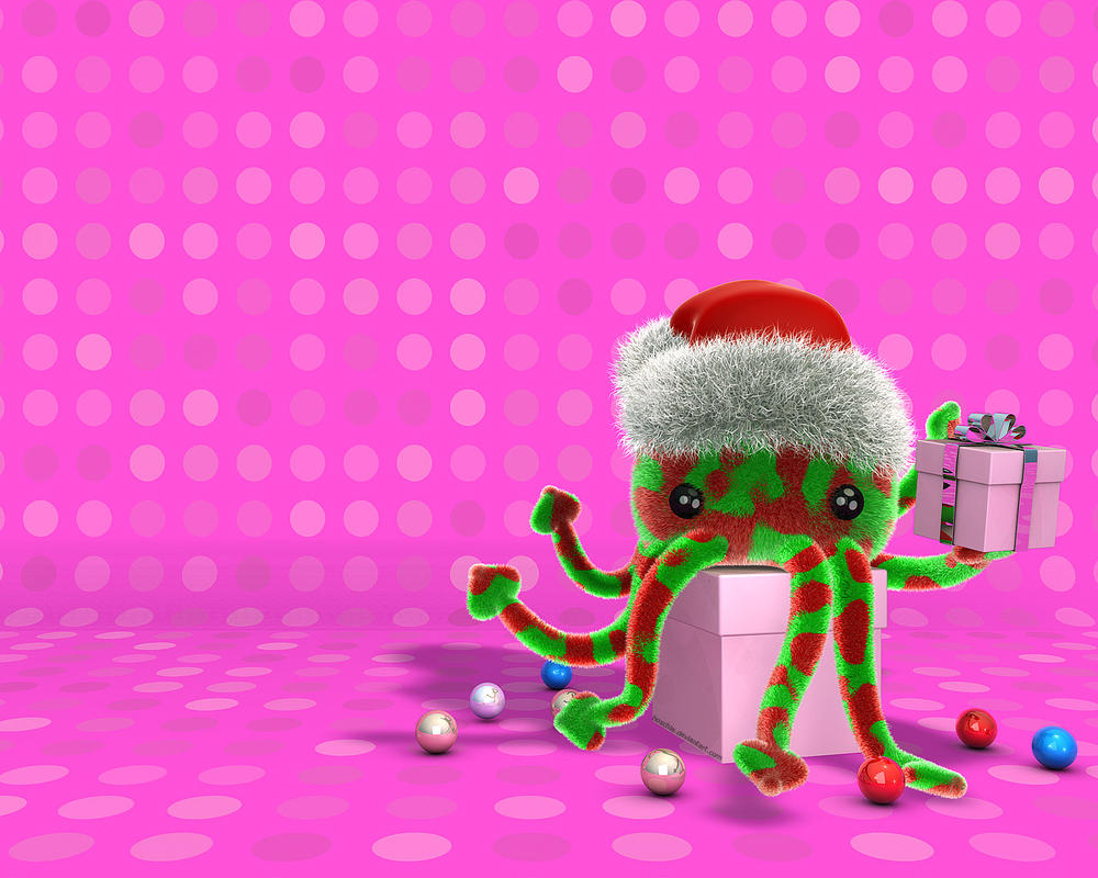 Christmas cat-o-puss 2007 by hoschie