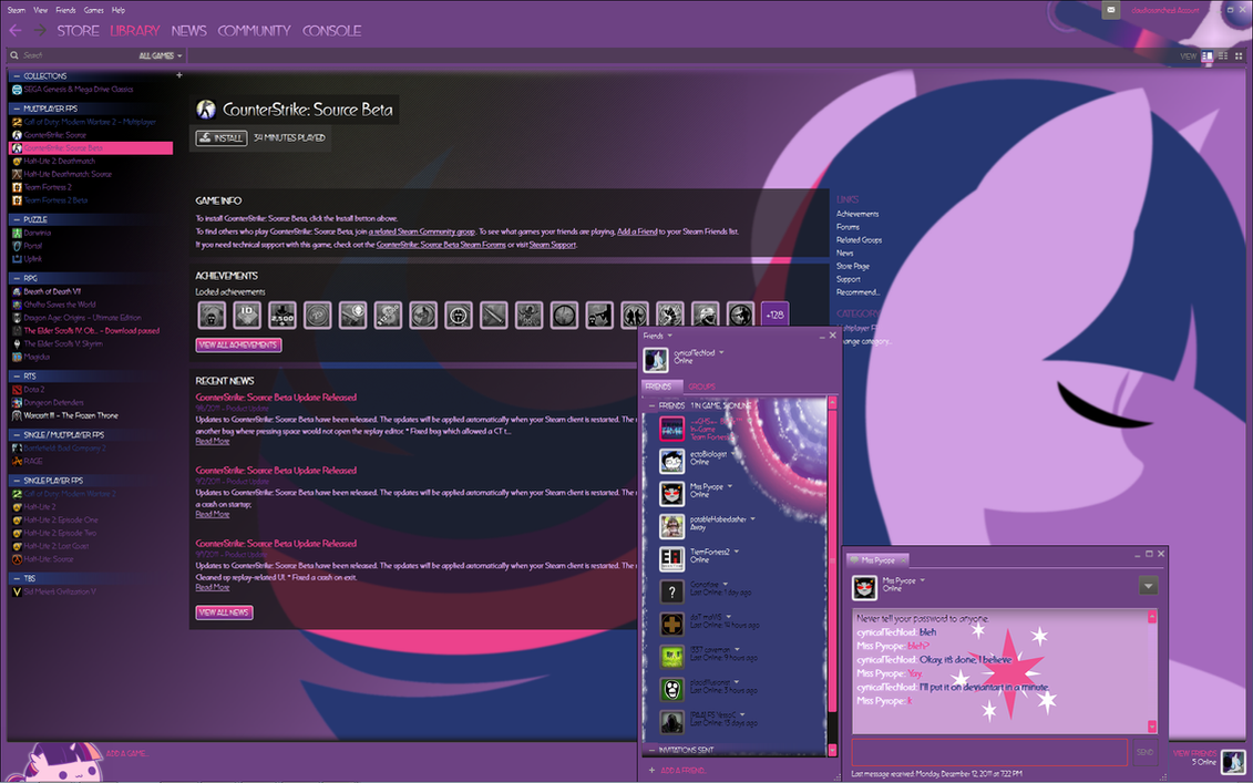 Twilight Sparkle Steam Skin - Final Version by cynicalTechlord
