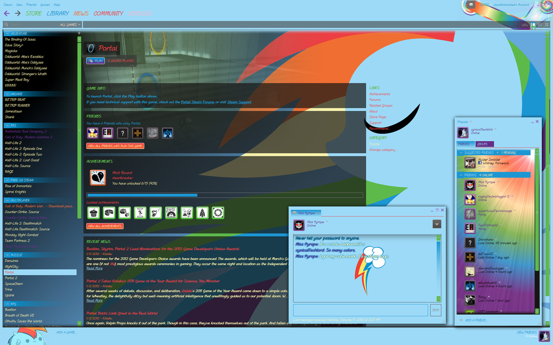 Rainbow Dash Steam Skin by cynicalTechlord