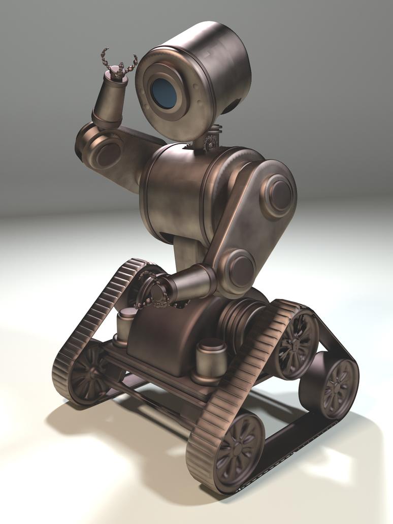 3d Model Steampunk Robot By Ark4n On Deviantart