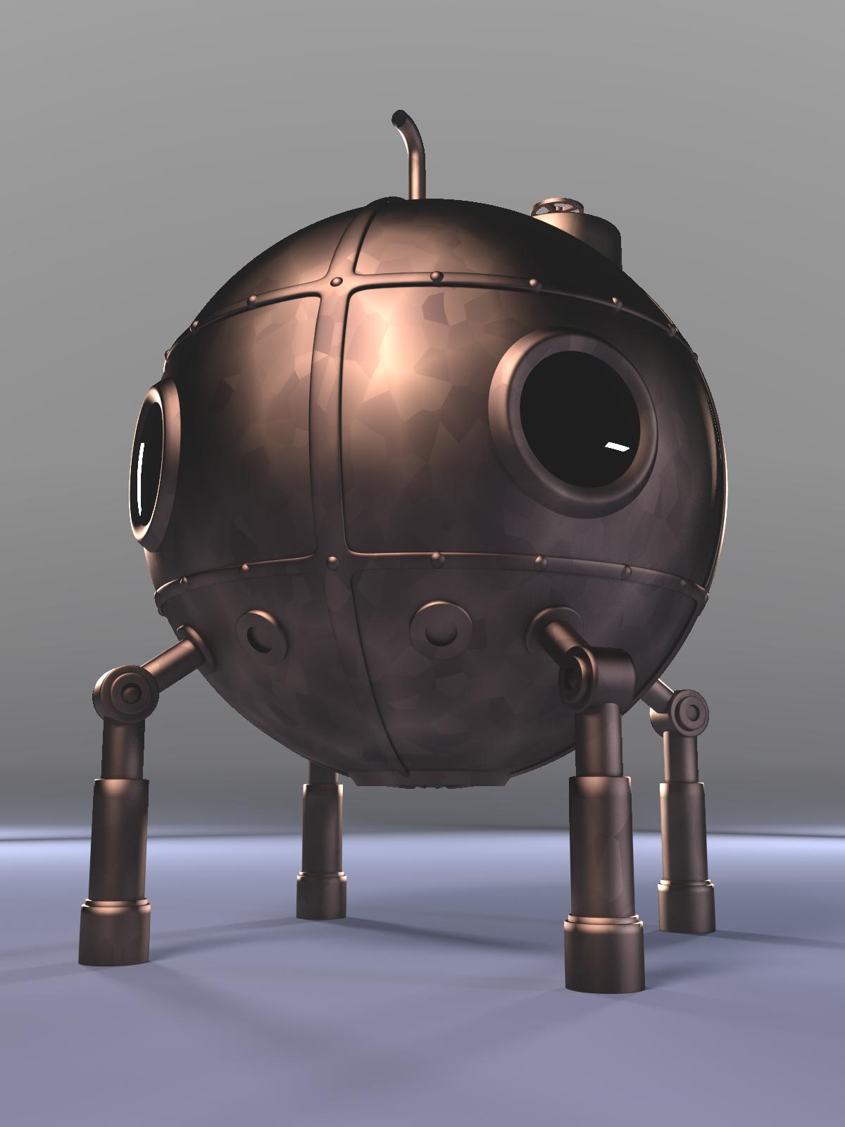 3d Model Steampunk Bathysphere By Ark4n On Deviantart