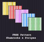 FREE DOWNLOAD - Shamrocks + Stripes Pattern